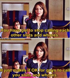 Image result for mean girls sluts and whores tina fey