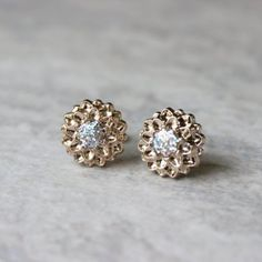 Rose Gold Earrings Rose Gold Jewelry Iridescent Earrings...