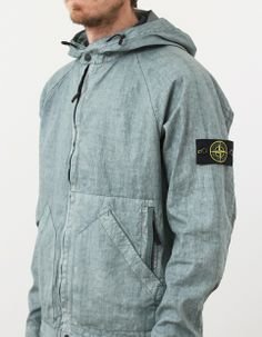 cf0a5b26798 Stone Island Lino Watro Tela Hooded Jacket Mint Green - 43929 - Nitty  Gritty Store