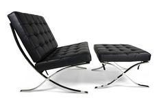 Ludwig Mies Van Der Rohe , Barcelona chair and ottoman