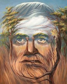 35 Mind-Twisting Optical Illusion Paintings By Oleg Shuplyak - Optical illusions are always fun and fascinating as they trick our brain into perceiving things dif - Optical Illusion Paintings, Art Optical, Optical Illusions, Illusion Kunst, Illusion Art, Oleg Shuplyak, Illusion Pictures, Art Visage, Hidden Images