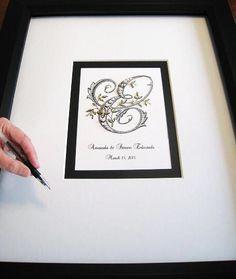Wedding Alternative Guest Book Signature Matte Beaded by Daisyblu