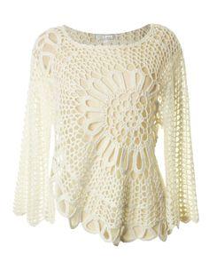 Hand-made crochet top by Love.  Design, ideas