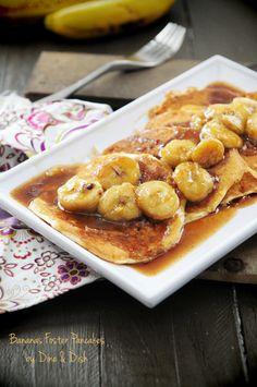 Bananas Foster Pancakes for Rachel  http://www.rachelcooks.com/2012/07/13/bananas-foster-pancakes/#