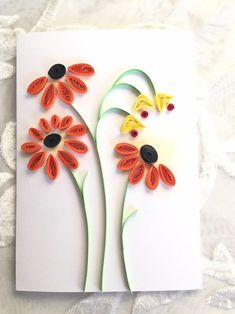 Quilling Birthday Cards, Paper Quilling Cards, Paper Quilling Flowers, Paper Quilling Designs, Quilling Paper Craft, Quilling 3d, Paper Cards, Quilling Ideas, Card Birthday