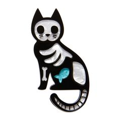 Quirky Gentleman Dress-up Cat Plastic Acrylic Pin Badge Kawaii Japanese Brooch