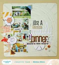 Layout by Melissa Mann using Scrapbook Circle's Home Sweet Home Kit #scrapbooking