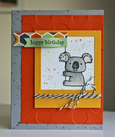 Little Bay Stampin': CCC#041: August Card Challenge - Happy Birthday!