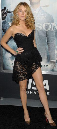 Blake Lively, full shot of dress, little to revealing for my liking.