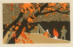 Russian Matchbox Covers Celebrate Fall Colors
