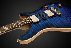 PRS is a guitar company founded by luthier Paul Reed Smith. Today they are recognized as some of the finest guitars in the world, on par and often sur. Cool Guitar, Blue Guitar, Warwick Thumb, Paul Reed Smith, Prs Guitar, Guitar For Beginners, Shades Of Purple, Music Stuff, Dead Beautiful