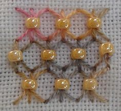 fill stitch with beads - Google Search
