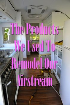 Products We Used to Remodel Our Airstream The Product Used to Remodel an Airstream: Includes paint, flooring, cleaning and more!The Product Used to Remodel an Airstream: Includes paint, flooring, cleaning and more! Airstream Living, Airstream Campers, Airstream Remodel, Airstream Interior, Vintage Airstream, Camper Renovation, Trailer Remodel, Remodeled Campers, Vintage Trailers