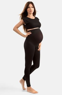 Blanqi 'High Performance' Maternity Belly Lift & Support Leggings available at #Nordstrom #blanqi