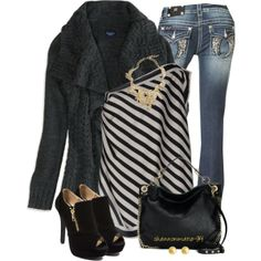 Black & Gold, created by shannonmarie-94 on Polyvore