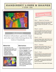 Kandinsky art lesson plan