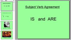 Subject Verb Agreement Powerpoint (and more free writing Powerpoints)
