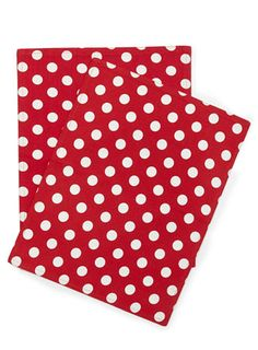 Set of 2 Red Polka Dot Placemats