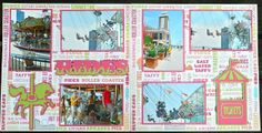 Cricut Crazy Scrapper: Carnival Rides layout (for Exploring Cricut)