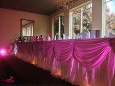 Tatra Reception decorated by Party & Wedding Design Bridal Table Decorations, Party Wedding, Wedding Designs, Valance Curtains, Reception, Home Decor, Interior Design, Home Interior Design, Home Decoration