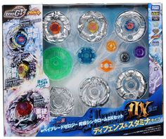 Beyblades #BBG-25 Japanese Ultimate DX Set Thin Chrome Defense And Stamina Type Takara Tomy http://www.amazon.com/dp/B00A7KR7AO/ref=cm_sw_r_pi_dp_uxX1ub1C5G0BK