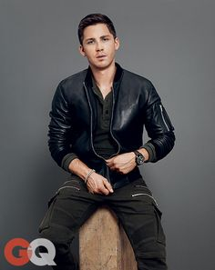 Logan Lerman: The Return of Top Gun Style | Great leather jacket. Very minimal and chic.