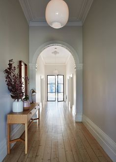 Lewisham house by sanders & king colour современная классика, стиль Southern Living, Living Area, Living Room Decor, Living Spaces, Timber Flooring, Hallway Decorating, Classic House, Victorian Homes, Victorian House Interiors