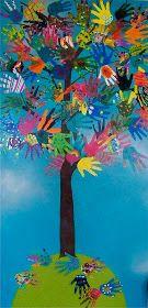 candice ashment art: the HAND TREE -Hand Art- 4rth grade
