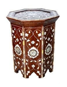 Mother of Pearl Inlay Side Table - MOP-ST032