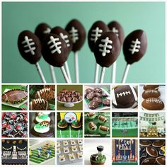 Bakerella. Football party idea