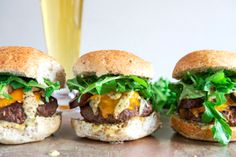 Cheeseburgers with Sauteed Mushrooms, Arugula, and Dijon | 25 Delicious Dinners You Can Make With Ground Beef Or Turkey