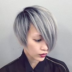 Top 40 Catchy Asymmetric Haircuts for Attention-Grabbing Gals Ash Blonde Asymmetrical Bob Really Short Hair, Short Hair Cuts, Fine Hair, Wavy Hair, Hair Bangs, Short Textured Bob, Asymmetrical Bob Short, Asymmetrical Hairstyles, Kids Bob Haircut