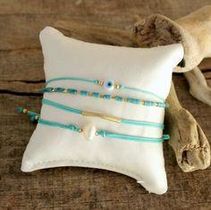Layering turquoise bracelets!