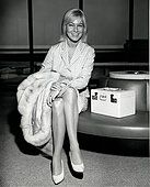 Actress May Britt arrives in New York - Stock Photo