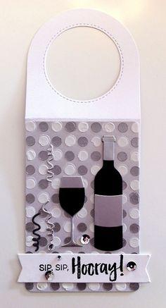 Card tag bottle glass glasses wine bottle tag MFT Wine tag Die-namics, MFT Wine service Die-namics, MFT Uncorked stamp set #mftstamps serpentine from TE Taylored Expressions die set, stencil polka dots - JKE