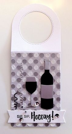 Card tag bottle glass glasses wine bottle tag MFT Wine tag Die-namics, MFT Wine service Die-namics, MFT Uncorked stamp set #mftstamps serpentine from TE Taylored Expressions die set, stencil polka dots - JKE