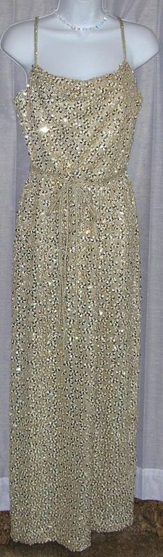 champgne gold sequin maxi dress