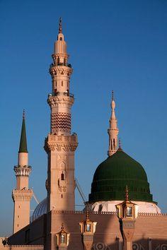 le Dôme vert de la mosquée de Madina mounawara