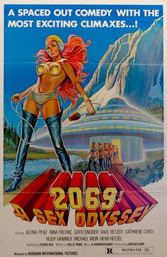 Image contains suggestive contentA poster for the pornographic film A Sex Odyssey' 1974 The film is a parody of the 1968 science fiction. Pulp Fiction, Science Fiction Art, Fiction Film, Movie Poster Art, Poster S, Vintage Movies, Vintage Posters, Good Girl, Sci Fi Movies