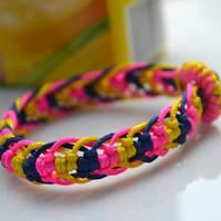 How to make a cool friendship bracelet out of seven cord strands