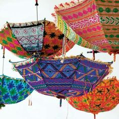 Bohemian Umbrellas - probably not much protection from the rain but beautiful as a parasol or a chandelier!