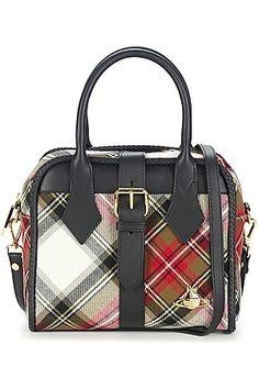 Dames handtassen - Vivienne Westwood Handtas kort hengsel WINTER TARTAN
