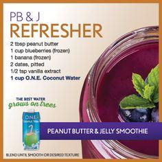 PB & J Refresher Peanut & Jelly Smoothie
