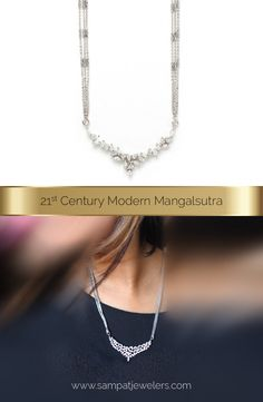 The meaning of mangalsutra varies from one Indian culture to another. Let's explore gold and diamond mangalsutras including latest mangalsutra designs. Diamond Mangalsutra, Gold Mangalsutra Designs, Diamond Jewelry, Gold Jewelry, Gold Bangles, Jewlery, Indian Wedding Jewelry, Bridal Jewelry, Long Pearl Necklaces
