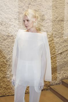 "Ever since launching in 1989, the preferred colour of Maison Martin Margiela has been white.  Found at the Maison and all its boutiques, in the collections, and sometimes even painted across clothes, white is iconically Maison Martin Margiela.  Neutral and the opposite of black, this ""carte blanche"" has become part of the Maison's visual identity.  Discover white, the colour of Maison Martin Margiela, throughout the seasons on Pinterest."
