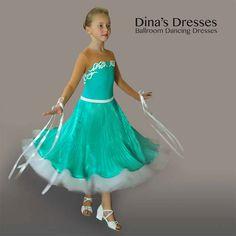 Junior 1 Ballroom Dancing Dress от DinasDresses на Etsy