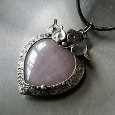 Heart Jewelry, Stone Jewelry, Unique Jewelry, Soldering Jewelry, I Love Heart, Metal Clay, Resin, Artisan, Hearts