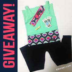 --- WIN! ---<br>- Tribal Bolder Band<br>- Mint Tank<br>- Tribal & Navy Capri Length Leggings<br>- Bolder Balm™<br>- Two Movie Tickets (to see Pitch Perfect2)!<br>($109 Value!)