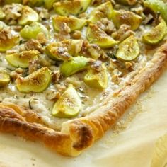Fig and Goat Cheese Tart with Walnuts....make it quick while figs are in season.