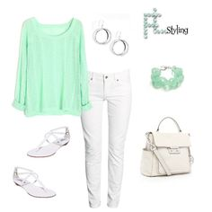mint+outfits | White & Mint Outfit | cute outfits